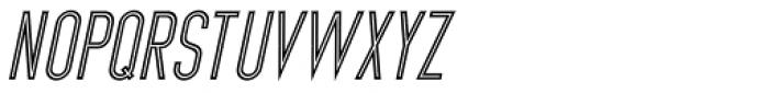 Inline Retro JNL Oblique Font LOWERCASE