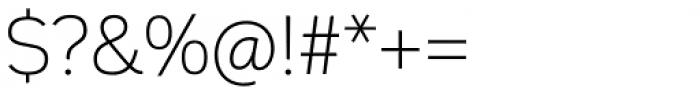 Innova Alt Thin Font OTHER CHARS