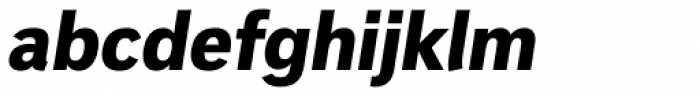 Innova Black Italic Font LOWERCASE