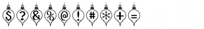 InsideLetters Xmas Font OTHER CHARS