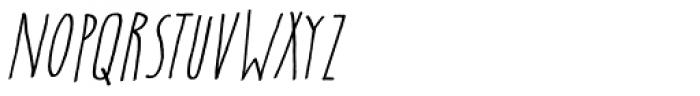Insomniac Italic Font UPPERCASE