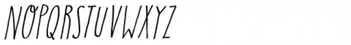 Insomniac Italic Font LOWERCASE