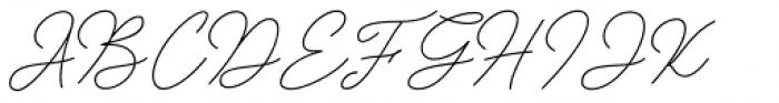 Insta Story Script Font UPPERCASE