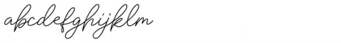 Insta Story Script Font LOWERCASE