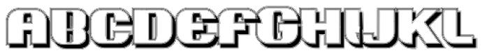 Intellecta Grotesca Compacta Shadow Font UPPERCASE