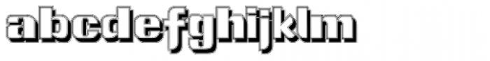 Intellecta Grotesca Compacta Shadow Font LOWERCASE