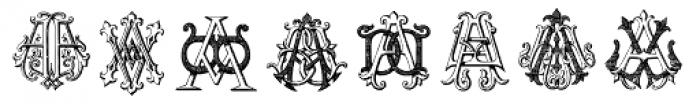 Intellecta Monograms AA-AS Font UPPERCASE