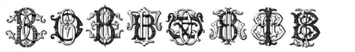 Intellecta Monograms AT-BM Font UPPERCASE