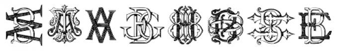 Intellecta Monograms AT-BM Font LOWERCASE