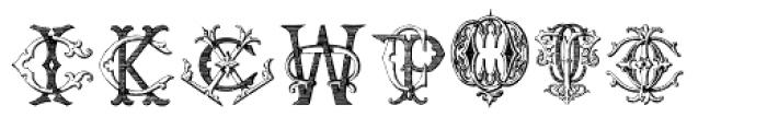 Intellecta Monograms CI-CZ Font UPPERCASE