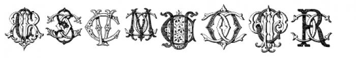 Intellecta Monograms CI-CZ Font LOWERCASE