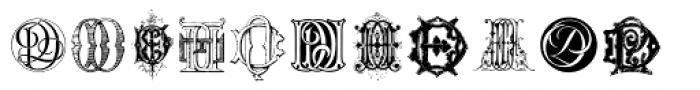 Intellecta Monograms DA-DR New Series Font UPPERCASE