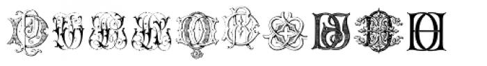 Intellecta Monograms DA-DR New Series Font LOWERCASE