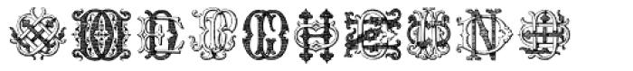 Intellecta Monograms DD-DP Font UPPERCASE