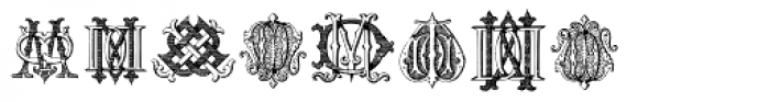 Intellecta Monograms DD-DP Font LOWERCASE