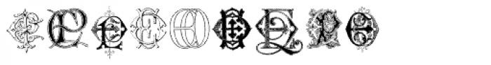 Intellecta Monograms EA EZ New Series Font OTHER CHARS