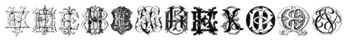 Intellecta Monograms EA EZ New Series Font UPPERCASE
