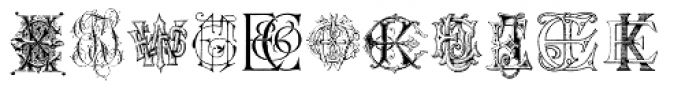 Intellecta Monograms EA EZ New Series Font LOWERCASE