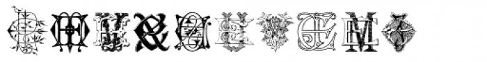 Intellecta Monograms EL-EZ New Series Font OTHER CHARS