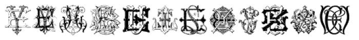 Intellecta Monograms EL-EZ New Series Font LOWERCASE