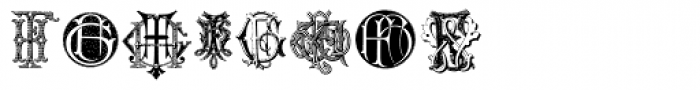 Intellecta Monograms FA-FZ New Series Font OTHER CHARS