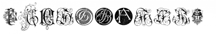 Intellecta Monograms FA-FZ New Series Font UPPERCASE