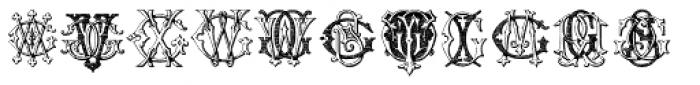Intellecta Monograms FR-GW Font UPPERCASE