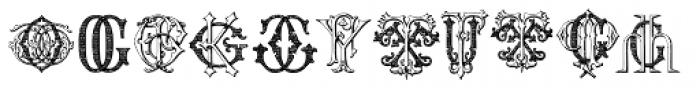 Intellecta Monograms FR-GW Font LOWERCASE