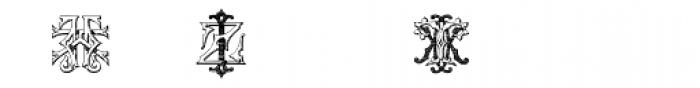 Intellecta Monograms IZ-KX Font OTHER CHARS