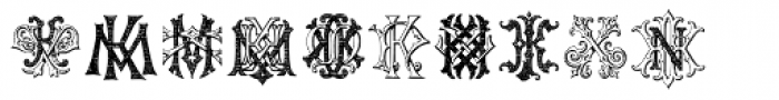 Intellecta Monograms IZ-KX Font UPPERCASE
