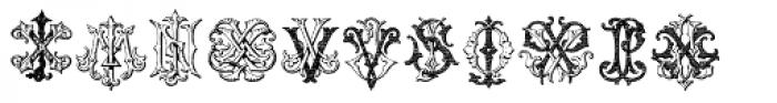 Intellecta Monograms IZ-KX Font LOWERCASE