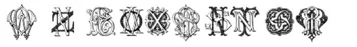 Intellecta Monograms KY-OZ Font UPPERCASE