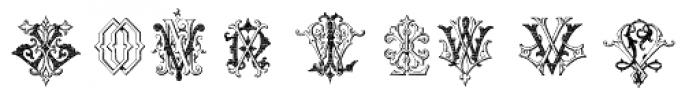 Intellecta Monograms KY-OZ Font LOWERCASE