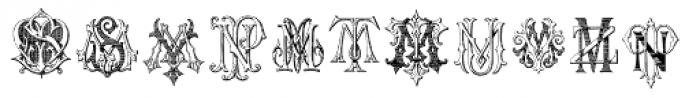 Intellecta Monograms MM-NR New Series Font LOWERCASE