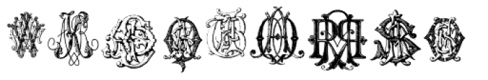 Intellecta Monograms Quad AFVW-CCAA Font UPPERCASE