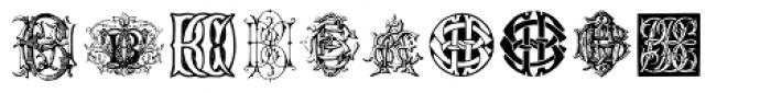 Intellecta Monograms Quad AFVW-CCAA Font LOWERCASE