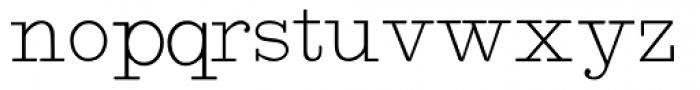 Intellecta Typewriter 2 Font LOWERCASE
