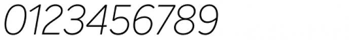 Intelo Thin Italic Font OTHER CHARS