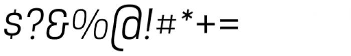Intensa Regular Italic Font OTHER CHARS