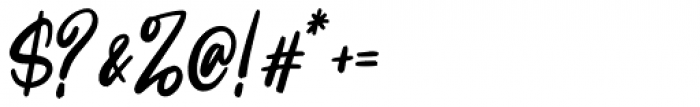 Intensity Regular Font OTHER CHARS