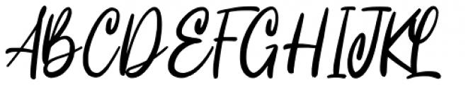 Intensity Regular Font UPPERCASE