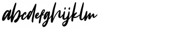 Intensity Regular Font LOWERCASE