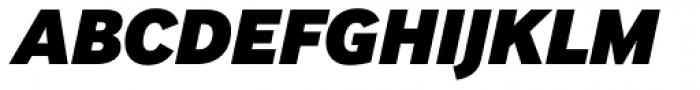 InterFace Black Italic Font UPPERCASE