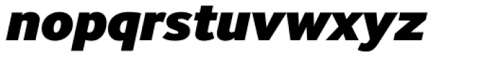 InterFace Black Italic Font LOWERCASE