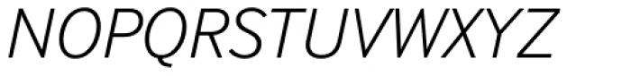 InterFace Light Italic Font UPPERCASE