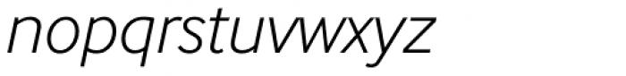 InterFace Light Italic Font LOWERCASE