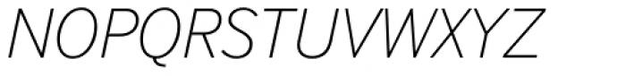 InterFace Thin Italic Font UPPERCASE