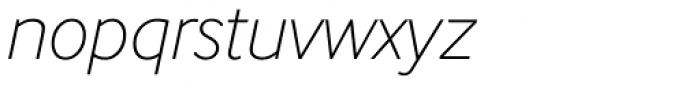 InterFace Thin Italic Font LOWERCASE