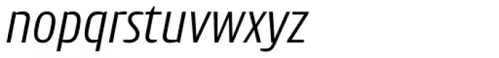 Intercom Light Italic Font LOWERCASE