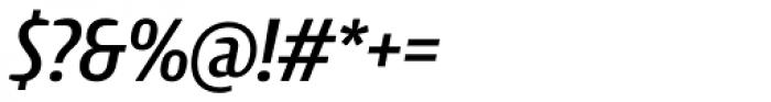 Intercom Medium Italic Font OTHER CHARS